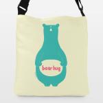 bear hug adjustable totebags