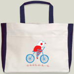 bici bird beach tote