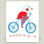bici bird print