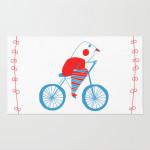 bici bird rug