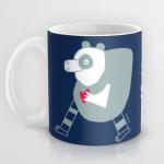 cuore di panda mug