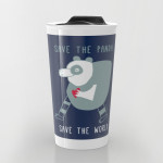 cuore di panda travel mug