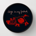dog is my friend wall clock