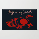 dog is my friend rug