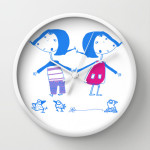 emma e luvi wall clock