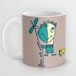 flower eats mouse mug