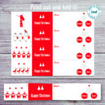 christmas gift tags red