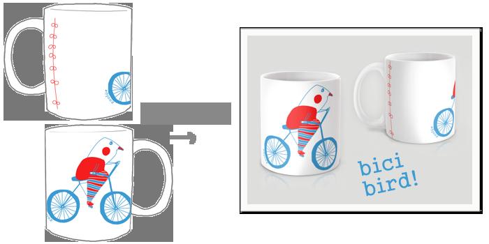 mug bici bird